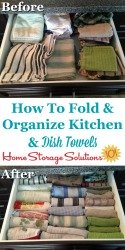How To Fold Kitchen Towels
