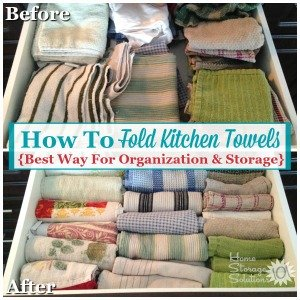 How to fold kitchen towels for best organization and storage