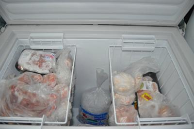 Chest freezer after