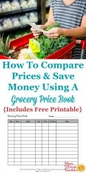 Grocery Price Book