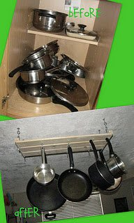 Homemade pot rack - how great is that?