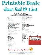 Home Tool Kit List