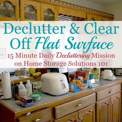 how to declutter a flat surface and keep it that way