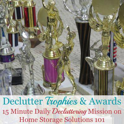 How To Declutter Old Trophies, Medals & Awards {Including