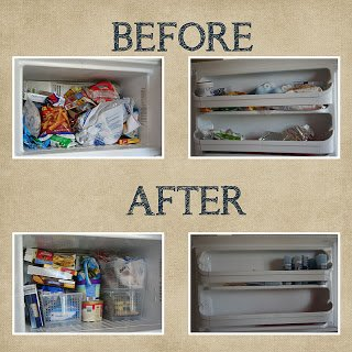 Before and After of Small Freezer Above Refrigerator