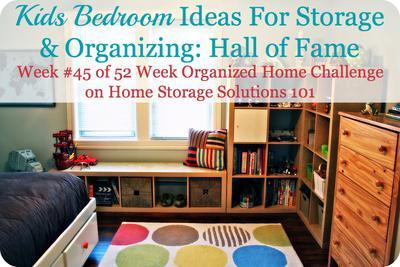 Kids Bedroom Ideas For Storage Organization