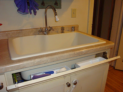 Tip Out Sink Tray