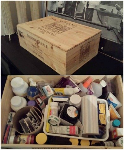 store your medications in a closed box
