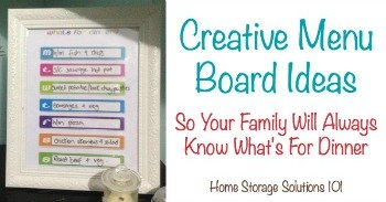Creative menu board ideas