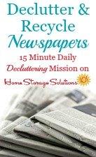 Newspaper Recycling & Decluttering