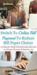 Switch To Online Bill Payment