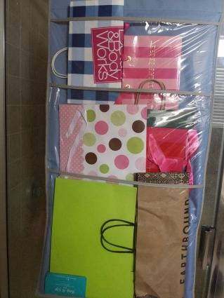 Ideas To Store Organize Gift Bags