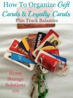 how to organize gift cards and loyalty cards