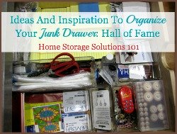 how to organize junk drawer