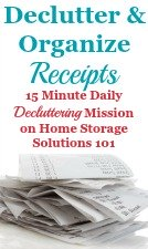 How To Declutter & Organize Receipts