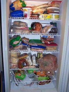 Before - upright freezer