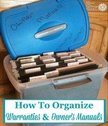 Organize Warranties & Manuals