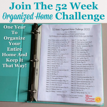 52 Weeks To An Organized Home: 2020 Plan