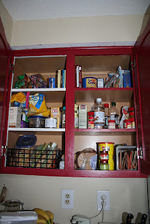 Organized food cabinets