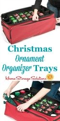 Christmas Ornament Organizer Trays
