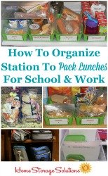 Organize Lunch Packing Supplies