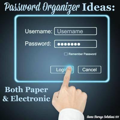Pword Organizer Ideas Paper