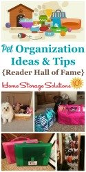 Pet Organization Ideas & Tips