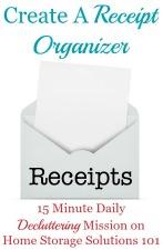 How To Use A Receipt Organizer