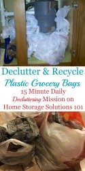 Declutter & Recycle Plastic Grocery Bags