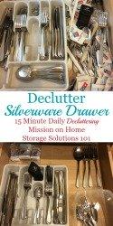 Declutter & Organize Silverware Drawer