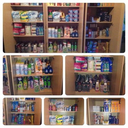 stockpile organization using cabinets