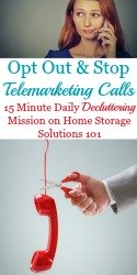 How To Opt Out & Stop Telemarketing Calls
