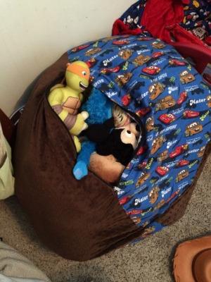 stuffed animal bean bag
