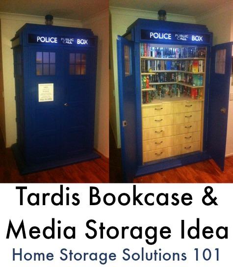 Tardis bookcase or other media storage