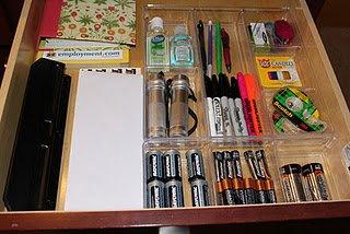 Junk drawer - after