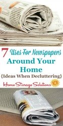 Uses For Newspapers Around Your Home
