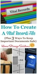 How To Create A Vital Records File