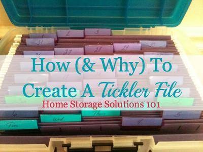 Why How To Create A Tickler File