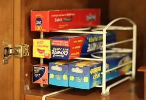kitchen wrap organizer for shelves