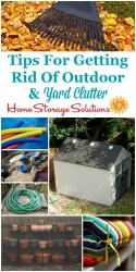 Get Rid Of Outdoor & Yard Clutter