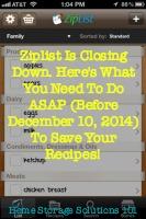 ZipList Closed